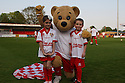 Mitchell Cole's children and Borobear. Mitchell Cole Benefit Match - Lamex Stadium, Stevenage - 7th May, 2013. © Kevin Coleman 2013. ..