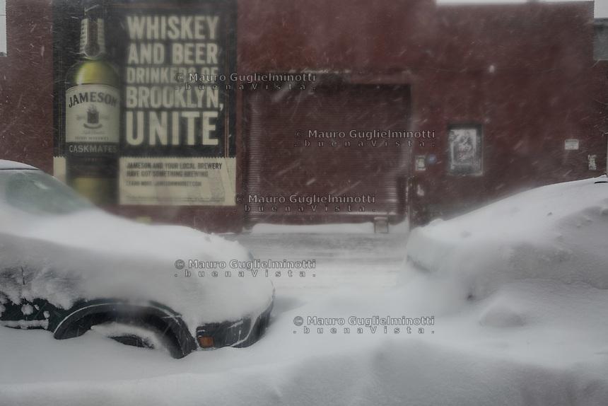 Tempesta di neve a New York  Snow in NY