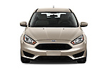 Car photography straight front view of a 2018 Ford Focus SE 5 Door Hatchback Front View