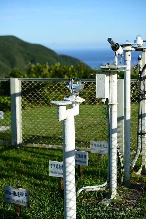 Orchid Island (蘭嶼), Taiwan -- Scientific instruments at the Orchid Island weather station.