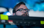 Silversun Pickups keyboardist Joe Lester performs during the band's set Saturday at the KROQ Weenie Roast y Fiesta at Verizon Wireless Amphitheater.