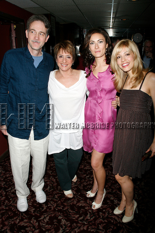 Boyd Gaines & Patti Lupone & Leigh Anne Larkin .celebrates as.Tony Award nominated actress Laura Benanti (GYPSY) joins the elite walls of Sardi's Restaurant as her caricature portrait is unveiled..June 3, 2008.© Walter McBride /