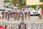 Ras na mBan visited Valentia on Monday 10th September pictured here Carla Boddy from the High Wycombe CC in England leads the pack over the Finish line at Chapletown.