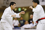 (L-R) Seidai Sato, Toshimasa Ogata, September 14, 2014 - Judo : All Japan Junior Judo Championships Men's -81kg Final at Saitama Prefectural Budokan, Saitama, Japan. (Photo by Yusuke Nakanishi/AFLO SPORT) [1090]