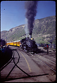 D&amp;RGW #473 K-28 with excursion coaches leaving Durango.<br /> D&amp;RGW  Durango, CO