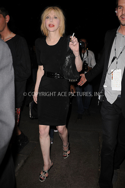 WWW.ACEPIXS.COM . . . . . ....September 15 2009, New York City....Courtney Love seen at Mercedes Benz New York Fashion Week on September 15 2009 in New York City....Please byline: KRISTIN CALLAHAN - ACEPIXS.COM.. . . . . . ..Ace Pictures, Inc:  ..tel: (212) 243 8787 or (646) 769 0430..e-mail: info@acepixs.com..web: http://www.acepixs.com