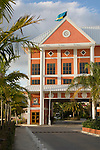 Grand Bahama Island, The Bahamas; the entrance to the Pelican Bay Hotel