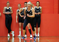 13.09.2016 Silver Ferns Shannon Francois in action during training ahead of their second netball match tomorrow night between the Silver Ferns and Jamaica in Palmerston North. Mandatory Photo Credit ©Michael Bradley.