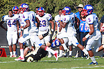 Palos Verdes, CA 09/24/10 - George Farmer (Serra #3)  in action during the Serra-Peninsula varsity football game at Peninsula High School.