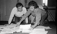 1978 FILE PHOTO<br /> New York City<br /> Studio 54 co-owners Steve Rubell Ian Schrager<br /> Photo by Adam Scull-PHOTOlink.net
