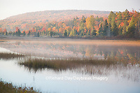 64776-01503 Pond and fall color Alger County Upper Peninsula Michigan