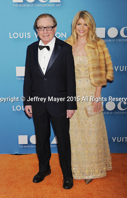 LOS ANGELES, CA - MAY 30: MOCA trustee Fred Sands; Carla Sands arrives at the 2015 MOCA Gala presented by Louis Vuitton at The Geffen Contemporary at MOCA on May 30, 2015 in Los Angeles, California.