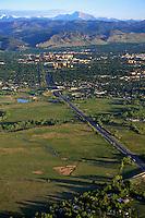 Boulder turnpike, Colorado.  US 36. May 2012
