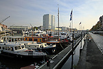 Waterfront scene, Rotterdam, The Netherlands