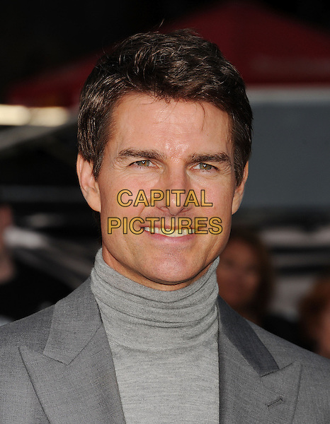 "Tom Cruise.""Oblivion"" Los Angeles Premiere held at the Dolby Theatre, Hollywood, California, USA..April 10th, 2013.headshot portrait grey gray turtleneck polo neck high collar suit .CAP/ROT/TM.©Tony Michaels/Roth Stock/Capital Pictures."