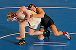 12 MAR 2011:  Matthew Meuleners of Northern State wrestles Jake Kahnke of St. Cloud State during the Division II Men's Wrestling Championship held at the UNK Health and Sports Center on the University of Nebraska - Kearney campus in Kearney, NE. Meuleners defeated Kahnke 4-3 to win the 285-lb national title. Corbey R. Dorsey/ NCAA Photos