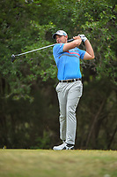 Brandon Harkins (USA) watches his tee shot on 14 during Round 3 of the Valero Texas Open, AT&amp;T Oaks Course, TPC San Antonio, San Antonio, Texas, USA. 4/21/2018.<br /> Picture: Golffile | Ken Murray<br /> <br /> <br /> All photo usage must carry mandatory copyright credit (&copy; Golffile | Ken Murray)