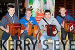 Paul O'Connor Currow, Cian mCCarthy Fossa, Kieran kelleher Kilgarvan and Andrew O'Regan Millstreet playing a few tunes at the Gathering on Sunday
