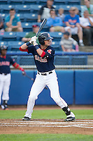 Jordan Betts (41) of the Salem Red Sox at bat against the Winston-Salem Dash at LewisGale Field at Salem Memorial Ballpark on May 14, 2015 in Salem, Virginia.  The Red Sox defeated the Dash 1-0.  (Brian Westerholt/Four Seam Images)
