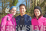 Treasa Scanlon, Moira Dineen and Maire O'Sullivan Killarney keeping fit at the third Gneeveguilla AC Winter Road Race in Killarney on Saturday