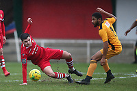Joe Christou of Hornchurch and Ellis Brown of Merstham during Hornchurch vs Merstham, BetVictor League Premier Division Football at Hornchurch Stadium on 15th February 2020