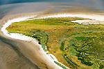 Nederland, Friesland, Waddenzee, 05-08-2014; Griend, onbewoonde zandplaat tussen Harlingen en Terschelling. Niet vrij toegankelijk, vogelreservaat.<br /> Uninhabited sandbank in Wadden sea. Bird sanctuary.<br /> luchtfoto (toeslag op standard tarieven);<br /> aerial photo (additional fee required);<br /> copyright foto/photo Siebe Swart