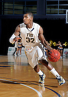 Florida International University guard Jeremy Allen (32) plays against ULM, which won the game 54-50 on January 07, 2012 at Miami, Florida. .
