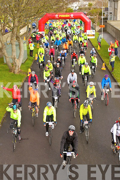 Pictured at the start of the Fenit Coastal Cycle on Saturday.