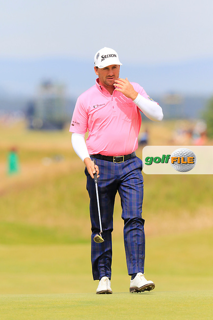 Graeme McDOWELL (NIR) at the 17th green during Monday's Final Round of the 144th Open Championship, St Andrews Old Course, St Andrews, Fife, Scotland. 20/07/2015.<br /> Picture Eoin Clarke, www.golffile.ie