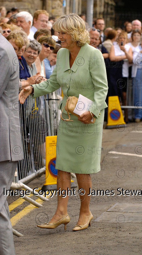 23/06/2005         Copyright Pic : James Stewart.File Name : sct_jspa07 wills graduation.CAMILLA GREETS THE CROWDS AFTER PRINCE WILLIAM'S GRADUATION FROM ST ANDREWS UNIVERSITY......Payments to :.James Stewart Photo Agency 19 Carronlea Drive, Falkirk. FK2 8DN      Vat Reg No. 607 6932 25.Office     : +44 (0)1324 570906     .Mobile   : +44 (0)7721 416997.Fax         : +44 (0)1324 570906.E-mail  :  jim@jspa.co.uk.If you require further information then contact Jim Stewart on any of the numbers above.........