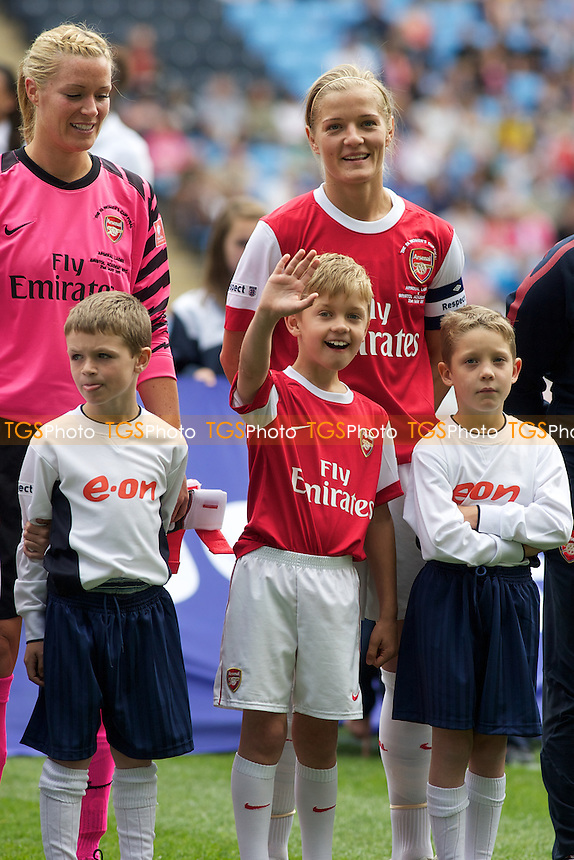 Katie Chapman (middle) with her son.. - Arsenal Ladies vs Bristol Academy - FA Women's Cup Final at Coventry City FC - 21/05/11 - MANDATORY CREDIT: Mark Hodsman/TGSPHOTO - Self billing applies where appropriate - 0845 094 6026 - contact@tgsphoto.co.uk - NO UNPAID USE.
