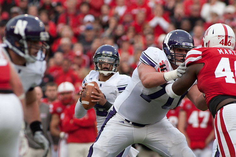 05 November 2011: Kain Colter #2 of the Northwestern Wildcats drops back to pass in the second quarter against Nebraska Cornhuskers at Memorial Stadium in Lincoln, Nebraska.  Northwestern defeated Nebraska 28 to 25.