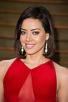 Aubrey Plaza arriving for the 2014 Vanity Fair Oscars Party, Los Angeles. 02/03/2014 Picture by: James McCauley/Featureflash