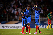 June 8th 2017, Créteil, France, U-21 International football friendly, France versus Cameroon;  Jonathan Bamba (fra) celebrates with Mouctar Diakhaby (cam)