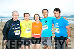 At the Maharees Brandon Bay Half Marathon on Saturday were l-r  Dan McCarthy, Abbeyfeale, Duncan Robertson, Pauline Robertson, Keitaro Ado and Robert Marsh