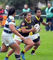 Ayesha Leti-I'iga in action during the Farah Palmer Cup women's provincial rugby match between Wellington Pride  and Auckland at Jerry Collins Stadium / Porirua Park, Wellington, New Zealand on Saturday, 23 September 2017. Photo: Dave Lintott / lintottphoto.co.nz