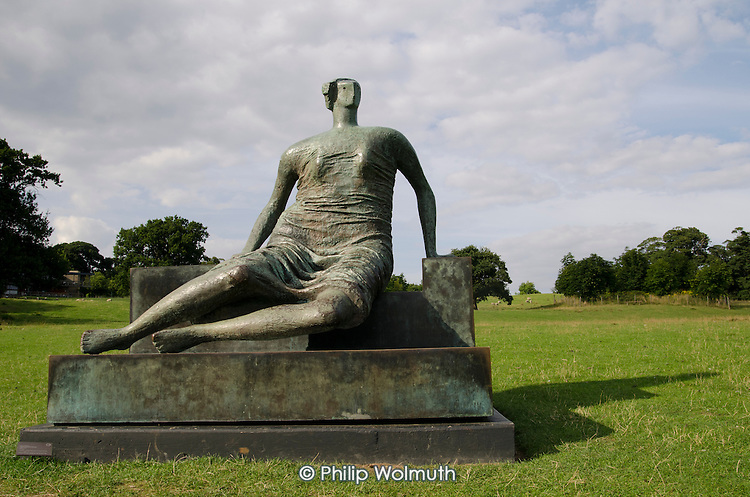 Draped Seated Woman by Henry Moore,  Yorkshire Sculpture Park, Wakefield.