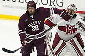 Hunter Racine (Colgate - 28), Merrick Madsen (Harvard - 31) - The visiting Colgate University Raiders shut out the Harvard University Crimson for a 2-0 win on Saturday, January 27, 2018, at Bright-Landry Hockey Center in Boston, Massachusetts.