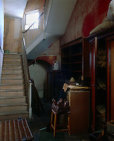 The attics at Eastnor Castle are full of abandoned furniture and old possessions
