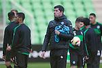08-12-2015, Training, FC, Europees, Euroborg, <br /> trainer Erwin van de Looi of FC Groningen,