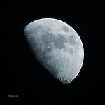 Half Moon over Arizona, April 8, 2014