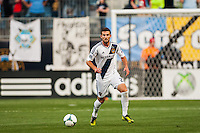 Tommy Meyer (21) of the Los Angeles Galaxy. The Los Angeles Galaxy defeated the Philadelphia Union 4-1 during a Major League Soccer (MLS) match at PPL Park in Chester, PA, on May 15, 2013.