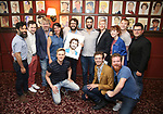 Josh Groban with 'The Comet' Family during the Josh Groban Sardi's Portrait Unveiling  at Sardi's on June 2, 2017 in New York City.