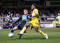 Jason McCarthy of Wycombe Wanderers during the Sky Bet League 2 match between Wycombe Wanderers and Accrington Stanley at Adams Park, High Wycombe, England on the 30th April 2016. Photo by Liam McAvoy / PRiME Media Images.