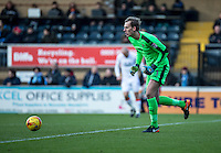 Goalkeeper Christian Walton of Luton Town during the Sky Bet League 2 match between Wycombe Wanderers and Luton Town at Adams Park, High Wycombe, England on the 21st January 2017. Photo by Liam McAvoy.