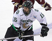 Travis Zajac - The Boston College Eagles defeated the University of North Dakota Fighting Sioux 6-5 on Thursday, April 6, 2006, in the 2006 Frozen Four afternoon Semi-Final at the Bradley Center in Milwaukee, Wisconsin.