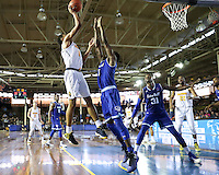 JOINT BASE PEARL HARBOR-HICKAM, HI - December 7, 2016: Cal Bears Men's Basketball team vs. the Seton Hall Pirates in the FS1 Pearl Harbor Invitational at Bloch Arena.  Final score, Cal Bears 57, Seton Hall Pirates 60.
