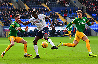 Preston North End's Alan Browne and Brad Potts compete with Bolton Wanderers' Sammy Ameobi<br /> <br /> Photographer Richard Martin-Roberts/CameraSport<br /> <br /> The EFL Sky Bet Championship - Bolton Wanderers v Preston North End - Saturday 9th February 2019 - University of Bolton Stadium - Bolton<br /> <br /> World Copyright &copy; 2019 CameraSport. All rights reserved. 43 Linden Ave. Countesthorpe. Leicester. England. LE8 5PG - Tel: +44 (0) 116 277 4147 - admin@camerasport.com - www.camerasport.com