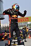 15.04.2018, Shanghai Audi International Circuit, Shanghai, 2018 FORMULA 1 HEINEKEN CHINESE GRAND PRIX, 12.04. - 15.04.2018<br /> im Bild<br />Sieger Daniel Ricciardo (AUS#3), Aston Martin Red Bull Racing<br /> <br /><br /> <br /> Foto &copy; nordphoto / Bratic
