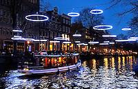 Amsterdam Light Festival . Een cultureel festival met lichtkunst. Effervescence